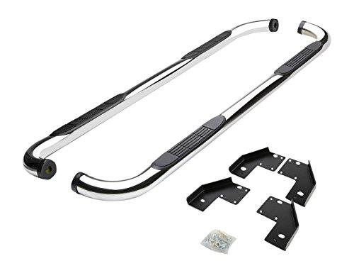 DNAMotoring STEPB-3-028-SS Stainless Steel, Side Step Nerf Bar Running Board