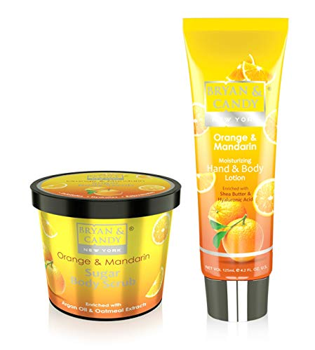 Bryan & Candy New York Body Polishing kit, Skin Care Combo,Orange & Mandarin Sugar Body Scrub 100gm, Hand & Body Lotion…