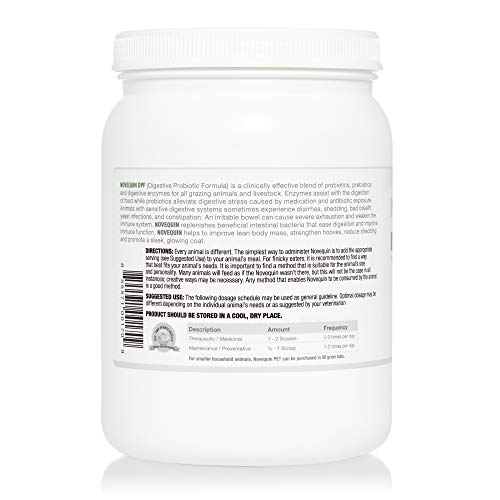 Arthur Andrew Medical - Novequin DPF, Digestive Probiotic Formula for Large Animals, Prebiotics, Probiotics, and Enzymes, Non-GMO, 1000 Grams by Arthur Andrew Medical (Image #3)