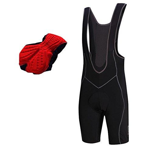 Santic Men's Cycling Bib Shorts MTB Road Bike Bicycle Clothing Braces Half Pants Cycling Shorts Black Size L-2XL (Asia 3XL/US 2XL)