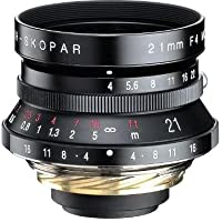 Voigtlander Color-Skopar 21mm f/4.0 Manual Focus Lens with Viewfinder - Black