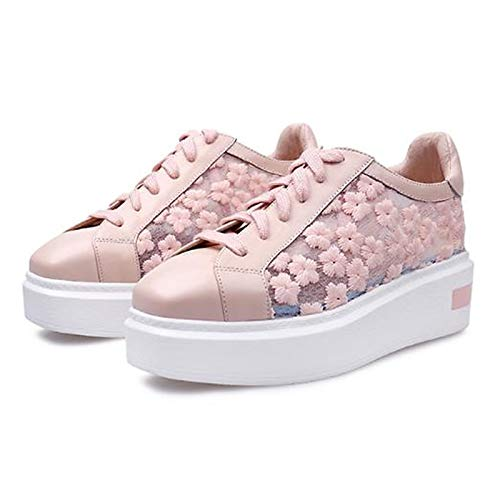 Flat Sneakers Shoes Comfort Pink Heel White Black Fall Black Cowhide Square Women's Toe ZHZNVX 5wfX7qY4q