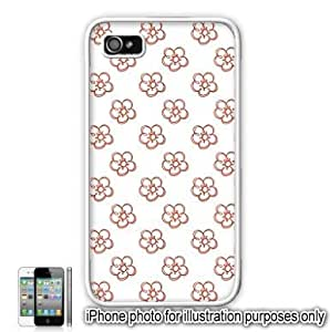 Red Pretty Floral Flowers #2 Pattern iPhone 4 4S Case Cover Skin White hjbrhga1544
