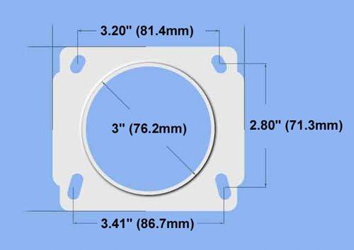 86-89 Mazda RX7 RX-7 13B Intake Mass Air Flow Sensor Adapter