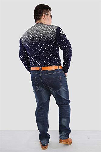 Slim Rectos Blau Vaqueros Alta Baggy Cintura De Pantalones De Sueltos Cat Fat Vaqueros R Guys Ssig Plus Pantalones para Moda Szie Hombres Fit Pantalones Jeans Cómodos AFA4YqgT