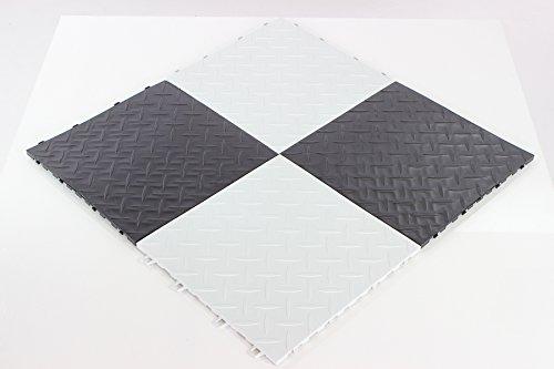Pavimento piastrella bianca pp x officina auto moto pavimentazione