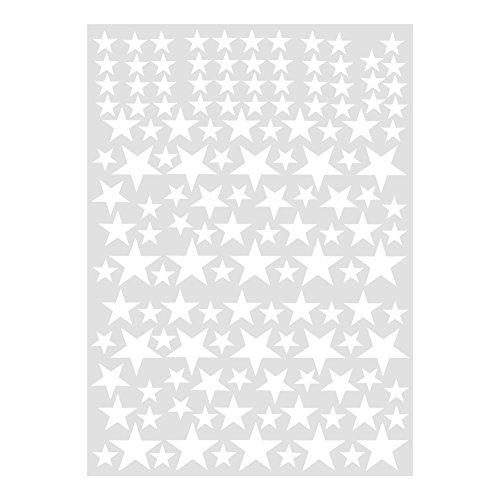 Fdit 2 pcs Etiqueta de Pared de PVC Extraíble Pegatina de Pared de Estrellas DIY Etiqueta de Pared de Arte Vinilo...