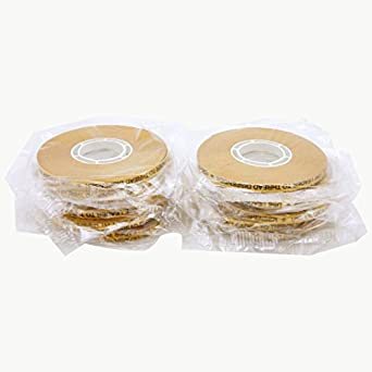 JVCC ATG-7502 ATG Tape (Acid Neutral): 1/4 in. x 36 yds. (Clear Adhesive on Gold Liner) [12 Pack]