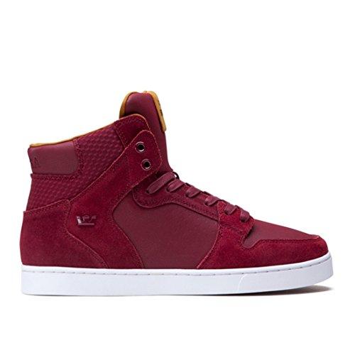 Supra for Men: Vaider LX Tawny Port White Sneaker (9)