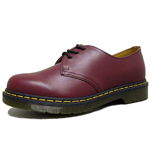 Herren Doc Kirschrot/Dr Martens 1461 Schuh Classic gelbe Ziernähte, 8-12 UK