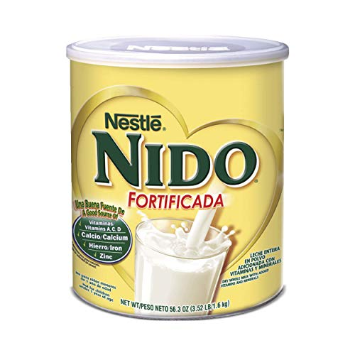 NESTLE NIDO Fortificada Dry Milk 56.3 Ounce Canister (Milk Powder For Senior)