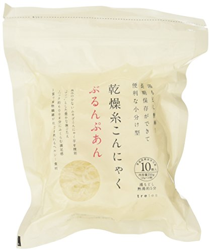 [6 bag set] low-calorie! Healthy! Additive-free! Pesticide-free! Drying thread konjac Purunpuan (25g X 10 pieces) X6 set (dry Shirataki Zenpasuta) by Tretes