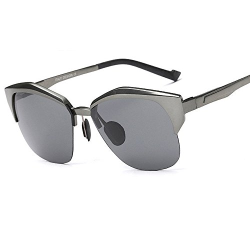 Clásico Mujeres de con Metal SunglassesMAN Marco UV400 Calidad para Hombre Plata de polarizado Color Gafas Sol Yxsd Primera Protección de Gray de Aviador para Conducción piloto La wIIpRf