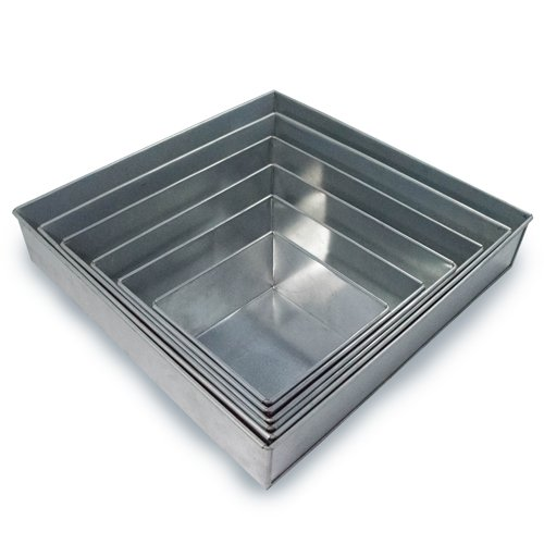 rectangle wedding cake pans 1 x 6 tier square multilayer wedding birthday anniversary 19058