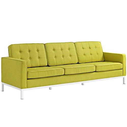 Italian Design Fabric Sectional Sofa (Modern Contemporary Urban Design Living Lounge Room Sofa, Green, Fabric)