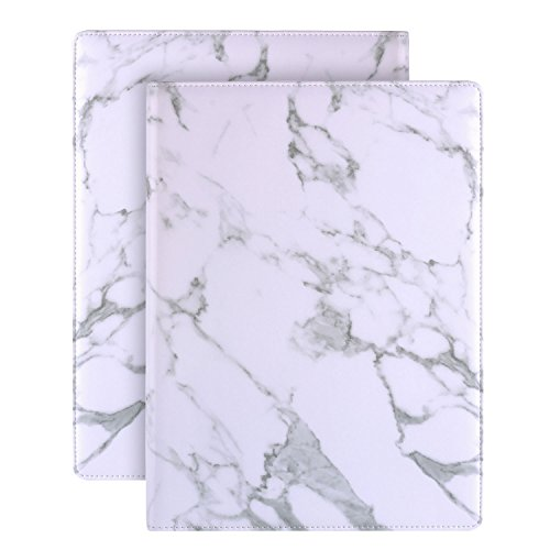 - Plinrise Luxury Marble Portfolio File Folder Document Resume Organizer,Padfolio File Holder Folders Letter Size,Clipboard Folder with Writing Pad,Black Marbling ... (White)