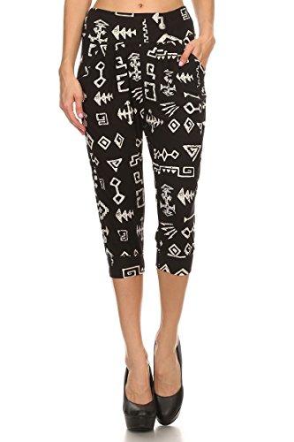 Tribal Printed Shorts (Black) - 7