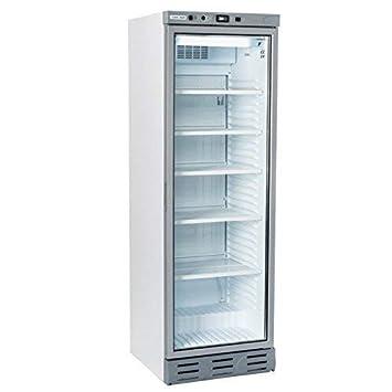 Nevera expositora de bebidas, capacidad para 302 litroscon puerta ...