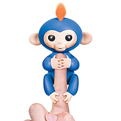 Fingerlings - Interactive Baby Monkey - Wow Wee Electronic Toy (Blue With Orange Hair) from MX-91101