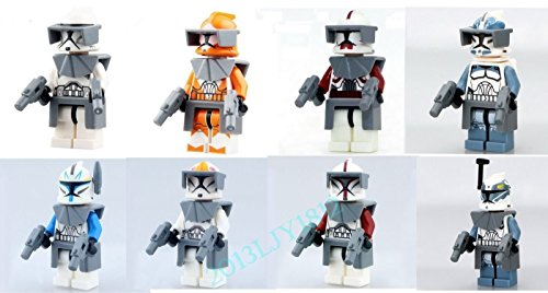8 PCS Set Demolitions Wolftrooper with Lot Accessories Minif