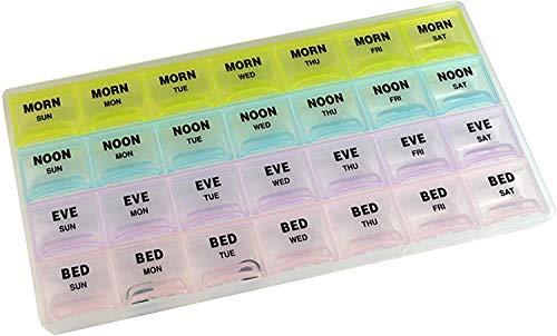 Deke 28 Daily Compartments Pill Organizer Case