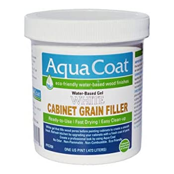 Aqua Coat Best White Cabinet Wood Grain Filler White Gel