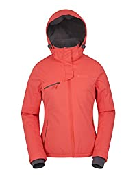 Mountain Warehouse Freestyle Womens Ski Jacket - Waterproof, Breathable, Warm & Cozy Fabric, Taped Seams with Detachable Ski Skirt & Two Front Pockets