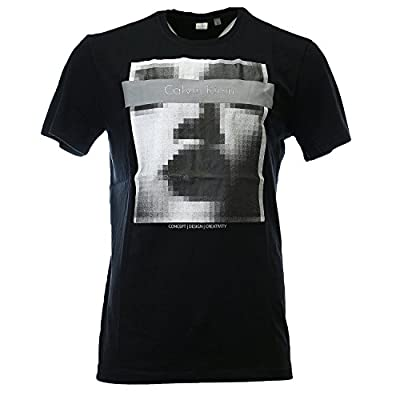 Calvin Klein Concept Design Creativity Graphic Print Fashion Tee Casual T-Shirt - Mens