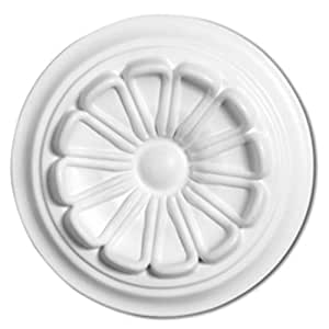 Focal Point 85032 Aster Rosette 5-Inch Diameter by 15/16-Inch Projection, Primed White
