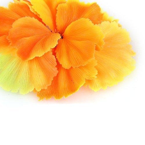 Planta Coral Decoración Plástico para Acuario Pecera Color Naranja: Amazon.es: Hogar