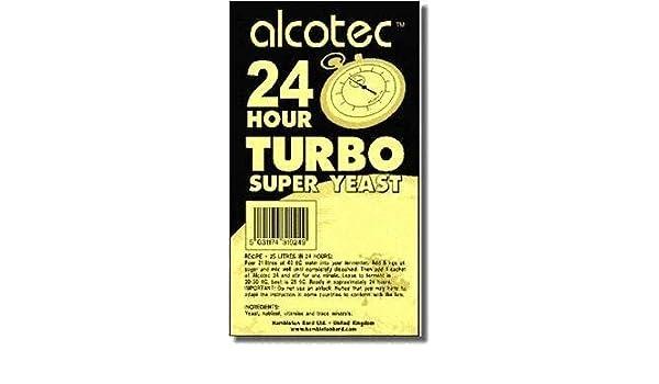 10 x alcotec Turbo Levadura 24h - 14% Alcohol En 24 horas: Amazon.es: Hogar