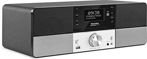TechniSat Digitradio 360 CD (Stereo DAB+ Digitalradio, UKW, CD-Player, USB, Wecker, Sleeptimer, Holzgehäuse, Aluminiumfront, 2x5 Watt) schwarz/silber