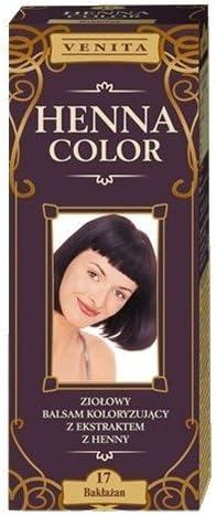Henna Color 17 Berenjena Bálsamo Capilar Tinte Para Cabello Efecto De Color Tinte De Pelo Natural Gallina Eco