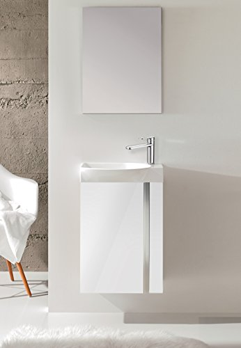 18'' Floating Bathroom Vanity Set Royo Elegance High Gloss White by Royo