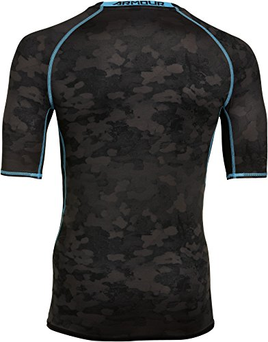 Under Armour HeatGear Printed Compression Short Sleeve T-Shirt - SS15 - Small - Black by Under Armour (Image #2)