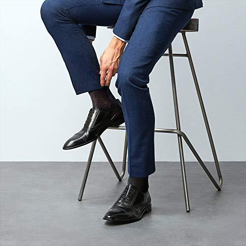df93ab63e8f4 Duna Men's Ultra thin Breathable Cotton Dress Socks, 5-pack,Black,X ...