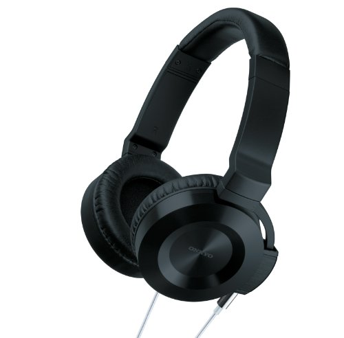 Onkyo ES-CTI300(BS) On-Ear Headphones with Control Talk for iOS Devices with Hi-Fi Cable - Black/Silver