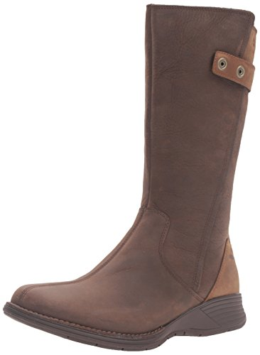 Merrell Women's Travvy Tall Waterproof Boot, Clay, 9.5 M US by Merrell
