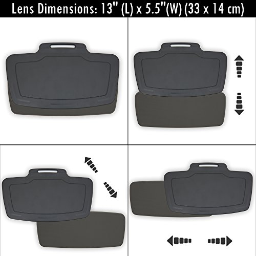 Sunset Car Sun Visor Extender Front and Side Window Anti Glare Shield for  Vehicles - Full UV Protection for Drivers - Ultimate Auto Sun Screen  Blocker ... 5799e3ccfd7