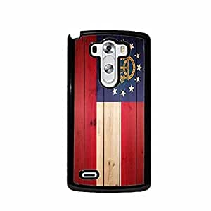 Wood Georgia State Flag LG G3 (Not for Verizon) Plastic Cell Phone Case Cover