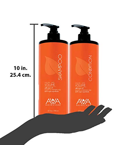Ava Haircare - Volume Shampoo And Conditioner - Vegan, Sulphate Free, Paraben Free, Cruelty Free (Set of 2, 33oz Each) 2
