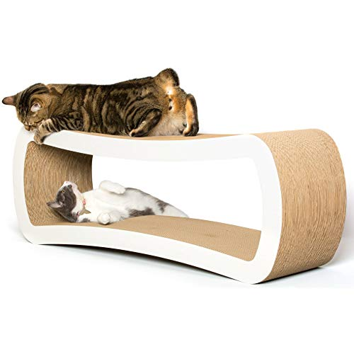 PetFusion Jumbo Cat Scratcher Lounge. 39 x 11 x 14 inches (lwh) [Superior Cardboard & Construction, Significantly…