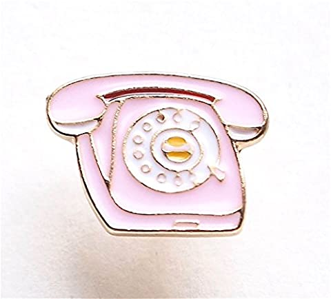 Brand New Pink Rotary Telephone Enamel Lapel Pin (Button Pins Beyonce)