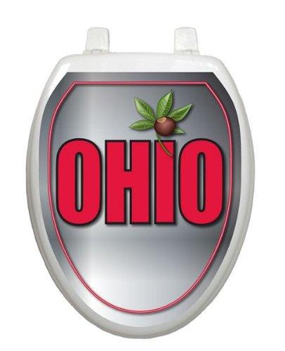 Ohio Toilet Tattoo TT-OH06-O Elongated Theme Cover Bathroom by Toilet Tattoo