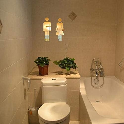 YWLINK Etiqueta De Espejo 3D Divertido WC Puerta De Inodoro SeñAl ...