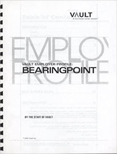 VEP: Bearing Point (formerly KPMG Consulting) 2003 (Vault Employer