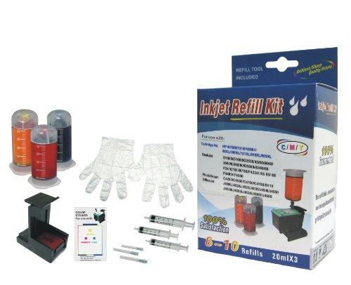 Self Refill kit HP 62 Ink HP 63 Ink HP 62XL Ink HP 63XL Ink Cartridges C,M,Y HP 62 HP 63 HP 62XL HP 63XL