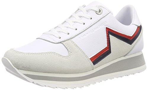 Retro Hilfiger Star Damen Weiß White Sneaker Runner Tommy 100 Tommy IZqAnxTwHq