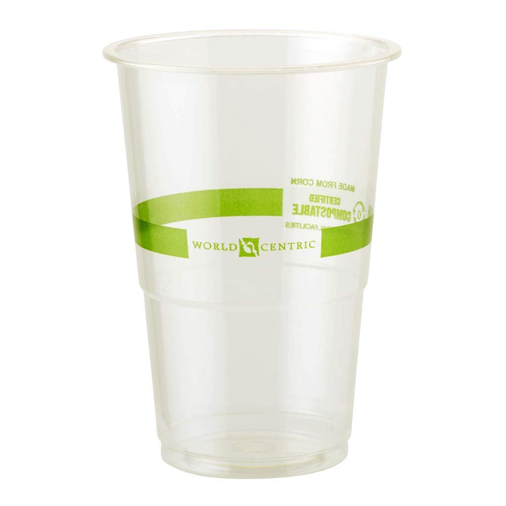 World Centric CP-CS-9 100% Compostable Ingeo Tall Cold Cups, No Straw Hole, 9 oz, Clear (Pack of 2000) by World Centric (Image #1)