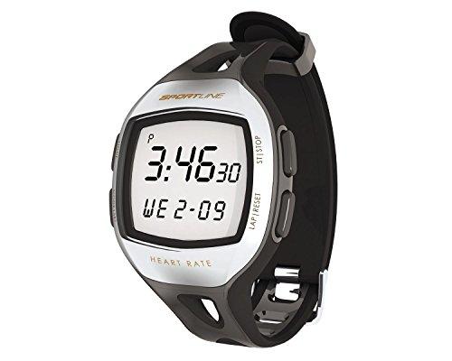 Sportline Unisex S12 Heart Rate Watch and Pedometer, Black, Medium